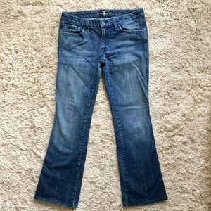 """3/$15! 7 For All Mankind """"A"""" Pocket Boot Cut Jeans"""